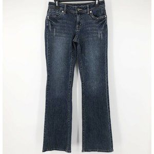 Apt. 9 Sz 4 Distressed Embellished Bootcut Jeans